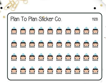 1128~~Headache Tracker Planner Stickers.