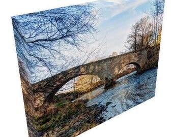 Canvas Prints, Gallery Wrap, Bridge over the River Nairn,Scotland, Fine Art Photography