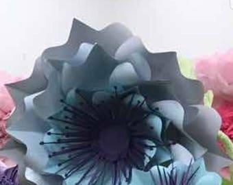 Paper Flower template  SVG digital file #47
