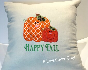 Happy Fall, Pillow Covers 18 x 18, Thanksgiving Decor, Pumpkin Decor, Fall Home Decor, Holiday Decor, Happy Fall Yall, Thanksgiving Pillows
