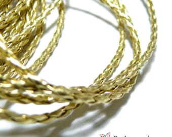 2 m cable gold leatherette PS5056 for jewelry making