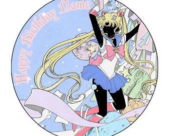 EDIBLE Sailor Moon 2 Birthday cake Topper