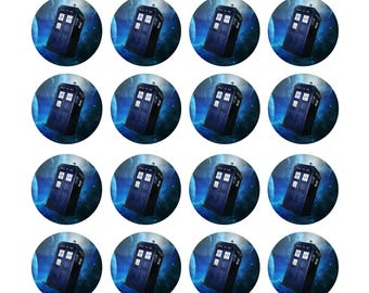 EDIBLE Dr Who Tardis Cupcake Toppers