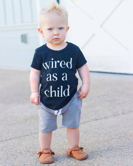 Wired as a Child/ Wired as a Baby Bodysuit or T-Shirt