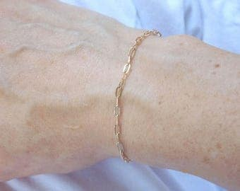 Gold chain bracelet, 14kt gold filled chain bracelet, fine gold chain bracelet, dainty gold filled bracelet, dainty gold bracelet, thin gold