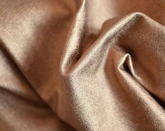 Gold Natural Italian Leather,Thickness: 1.2 mm Height 70 cm Width 60 cm ,b996