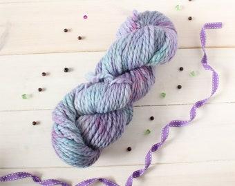 Hand dyed nerdy chunky yarn - Dragon Scale yarn - hand painted yarn - geek yarn - indie dyed yarn - multi tonal yarn - quick yarn