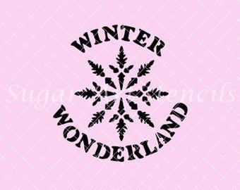 Winter wonderland snowflake stencil NB22205 holidays