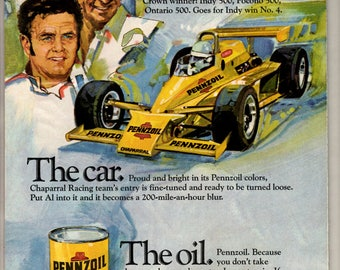 1979 Pennzoil motor oil vintage magazine ad  Digital Download 1706
