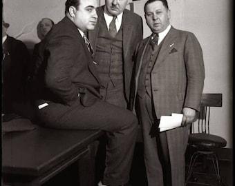 ON SALE Al Capone - Vintage - Photograph - Circa late 1920s early 1930s - Print - Photo - Prohibition - Chicago - Mafia - Mob - Mobster - Ma