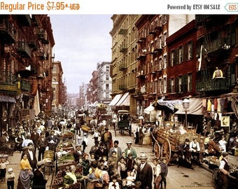 ON SALE New York City - Mulberry Street - 1900 - Photo - Print - Manhattan - Little Italy - Italian Neighborhood - Photograph - Vintage - NY