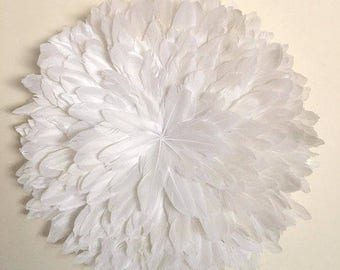 Juju Hat Style Wall Hanging - 40-50cm Goose Feather White **PRE-ORDER**