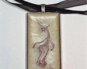 Keychain or pendant cream unique