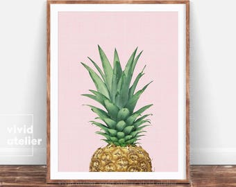 Pineapple Print, Pineapple Photography, Pineapple Wall Art, Tropical Art, Most Sold, Printable Pineapple, Tropical Decor, Printable Art