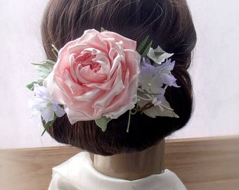 Handmade Flowers, Hairpin floral, pink flowers, Wedding Fascinator, Bridal Hair Clip, Flower Hair Clip, wedding decoration,clip with flowers