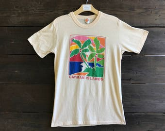 Vintage 80s Cayman Islands Graphic Tee