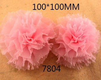 SET OF 2 APPLIQUES FLOWER SIZE 10 CM