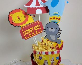 Circus Centerpiece, Carnival Centerpiece, Circus Decor, Circus Birthday, Big Top