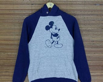 Adolescentes de MICKEY MOUSE Hoodies sudadera gris medio Vintage de los 90 Disney Mickey Mouse dibujos animados Walt Disney suéter Minnie Mouse Jumper talla M
