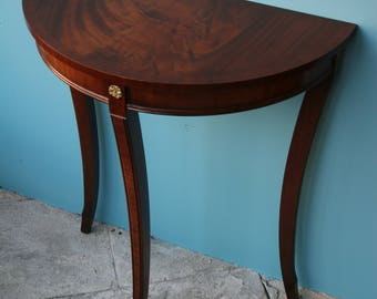 Bevan Funnell Reprodux Small Mahogany Console Table