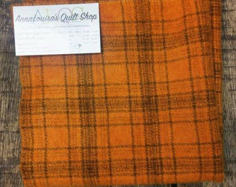Hand-dyed Wool Fat Quarter -- Persimmon Plaid -- FQ0077
