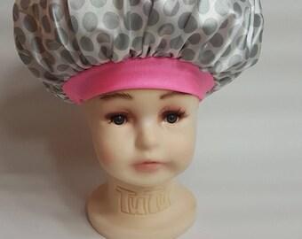 The Pink Elephant Kraddle Kap satin bonnet