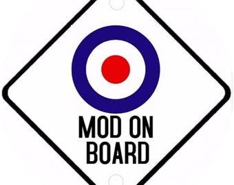 Car On Board sign - Mod On Board Aluminium sign