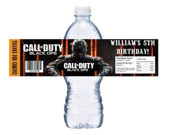 Call of duty etsy call of duty black ops printable downloadable water bottle labels wrappers birthday party favors email pdf filmwisefo