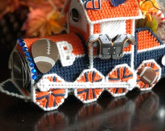 Sports, Train, Bronco colors, gifting, collectors, one of a kind, blue and orange, party gift