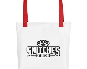 Snitches Get Stitches Funny Fighting tees for Boxing Lover Stitches Lovers Streetwear tees Snitches Tote bag