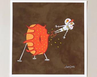 Donut Ring of Fire Art Print