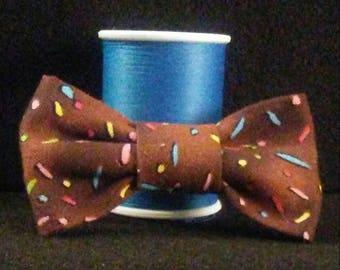 Mini chocolate sprinkles hair bow