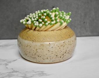 Cream Ceramic Match Striker Gift