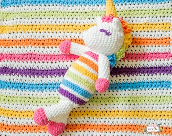 Crochet Lola the Plushy Unicorn PATTERN pdf instant digital download amigurumi stuffy plushy stuffed animal toy baby kids unicorn rainbow