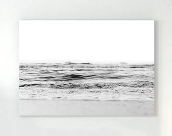 Ocean poster, ocean waves print, ocean wall art, ocean photo, ocean waves, ocean water print, scandinavian print, black and white art