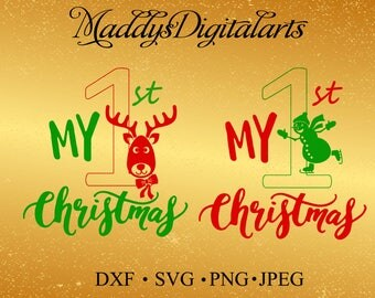 My First Christmas SVG Files for Cutting DXF Cricut Designs - SVG Files for Silhouette - Instant Download