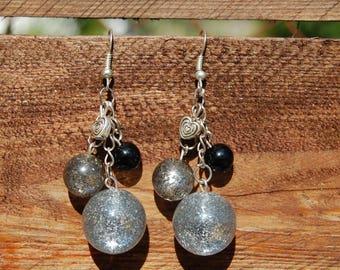 very beautiful earrings glitter polaris