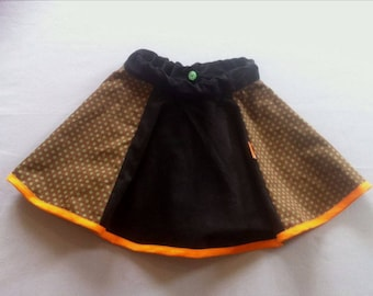 Fall/winter clothing-girls skirt winter brownie orange
