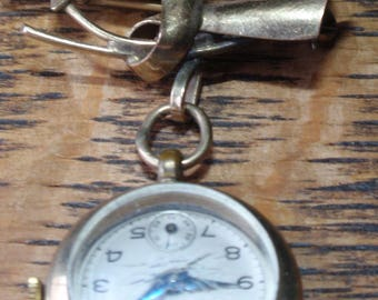 Carl Art 12K Gold Filled Watch Brooch