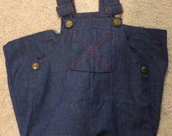 Vintage Buster Brown Denim Overalls  Size 18M