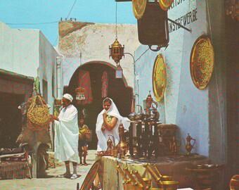 Vintage Unused Post Card Hammamet, Tunisia. 1970s or 80s