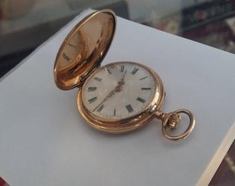 Antique 14K gold corsette watch, 10 rubis, hand winding