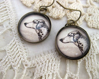 Dalmation Dog Earrings