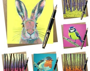 6 pack of assorted greeting cards | woodland