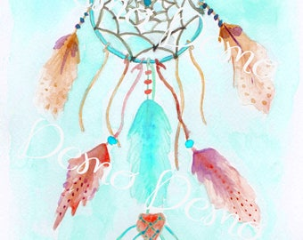Dreamcatcher Attrape reves turquoise