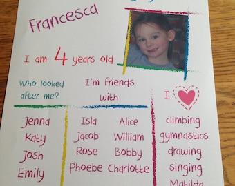 School / Nursery memory print