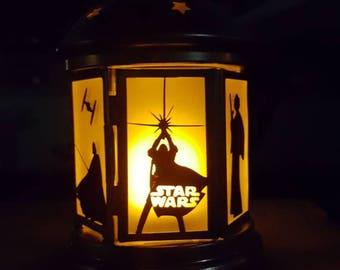 Small Star Wars lantern with electronic candle