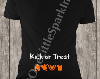 Disney halloween shirt disney halloween maternity disney pregnant disney maternity kick or treat disney baby