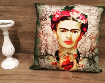 almohada de frida kahlo frida kahlo tiro almohada coj n de. Black Bedroom Furniture Sets. Home Design Ideas