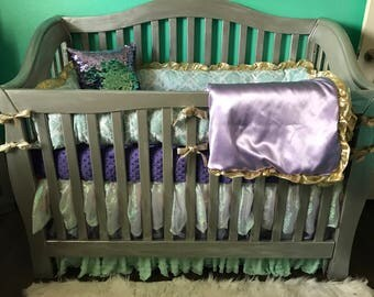 Custom Crib Bedding-Mermaid!